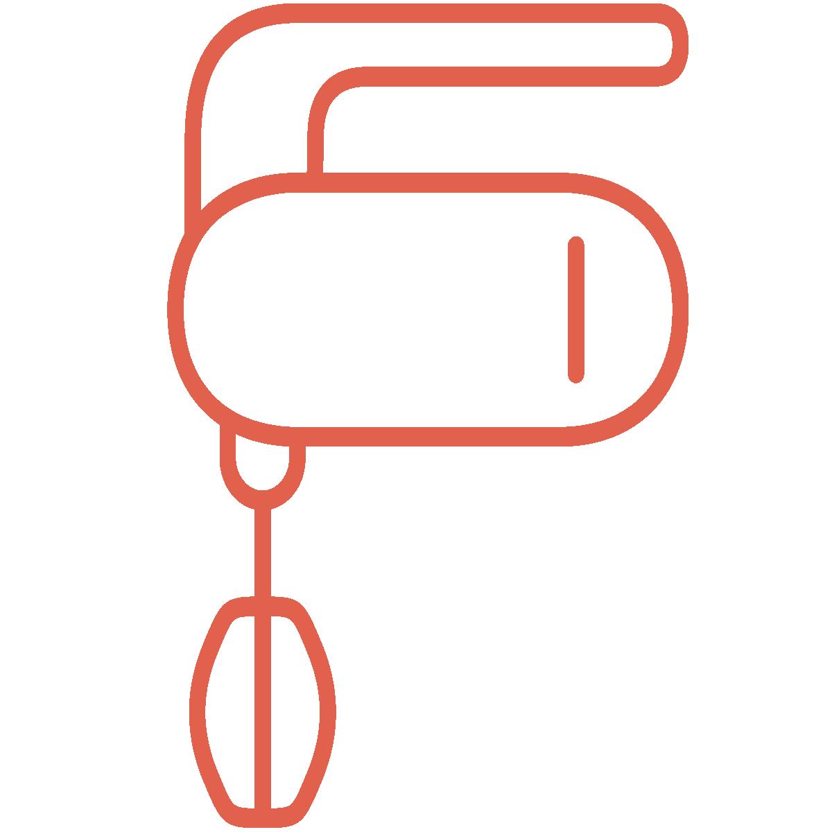 Dal set THE KITCHEN, l'icona frullatore ROSSA, creata da Wojciech Zasina [www.be.net/wzasina] e usata su www.cucinodite.it da Giorgio Giorgetti, personal chef Varese Como Milano Lombardia