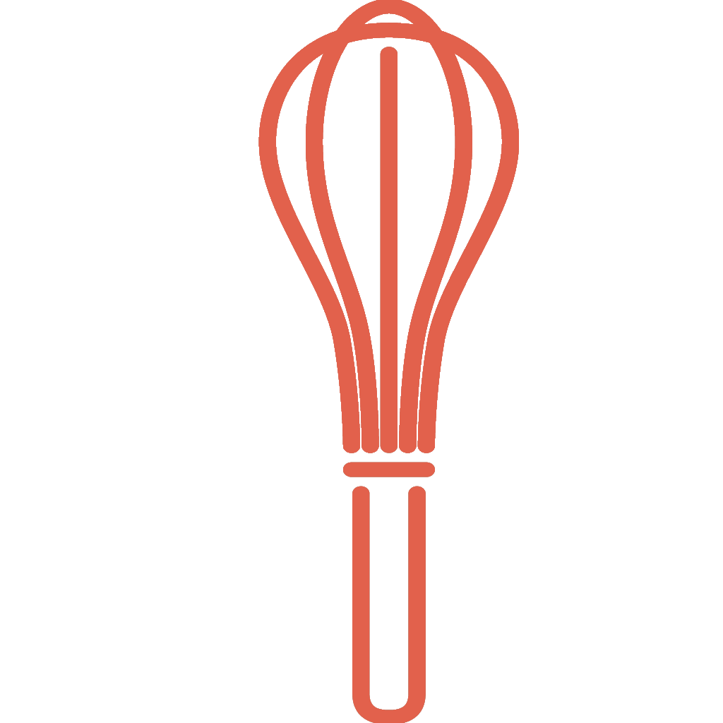 Dal set THE KITCHEN, l'icona frusta cucina ROSSA, creata da Wojciech Zasina `{`www.be.net/wzasina`}` e usata su www.cucinodite.it da Giorgio Giorgetti, personal chef Varese Como Milano Lombardia