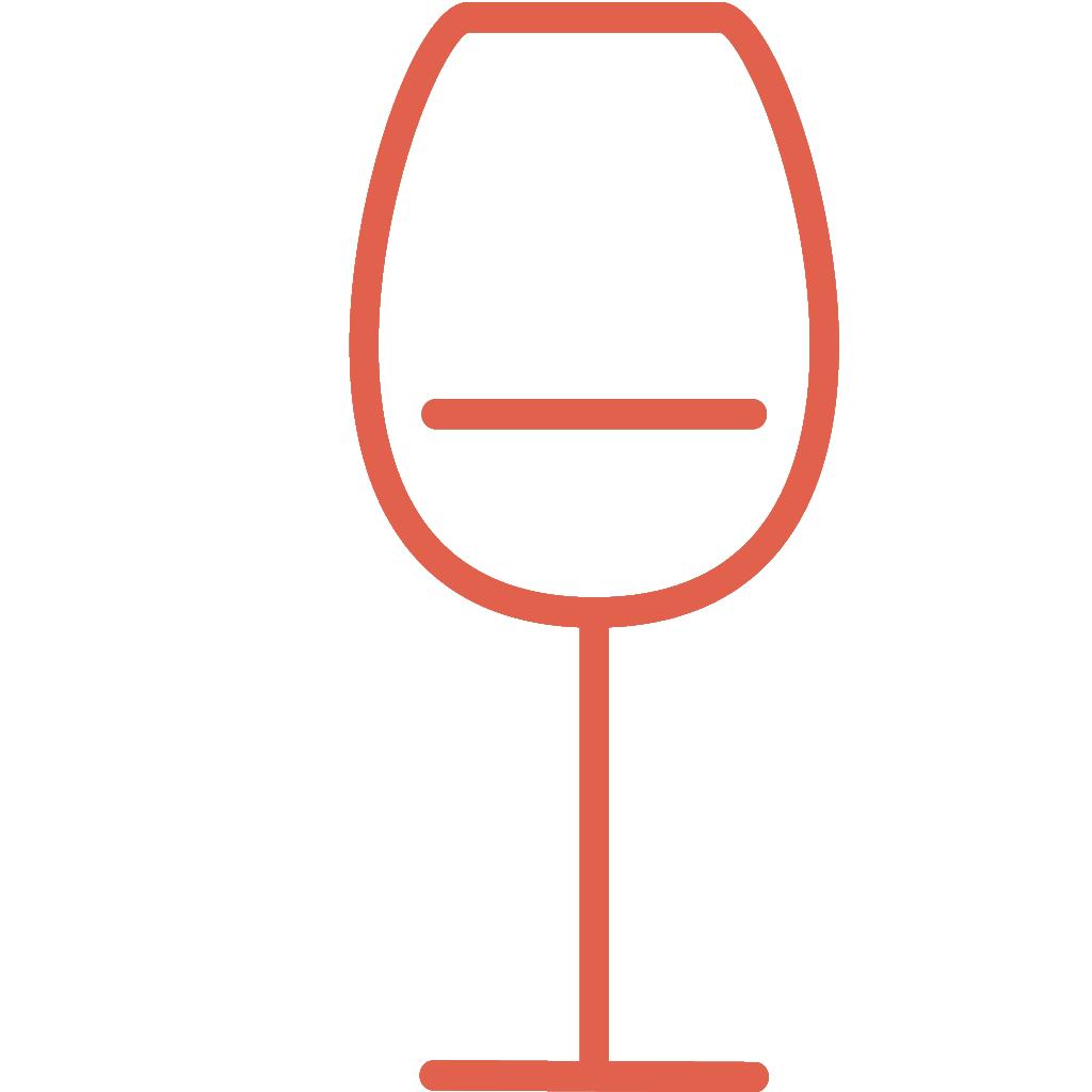 Dal set THE KITCHEN, l'icona bicchiere sommelier ROSSA, creata da Wojciech Zasina `{`www.be.net/wzasina`}` e usata su www.cucinodite.it da Giorgio Giorgetti, personal chef Varese Como Milano Lombardia