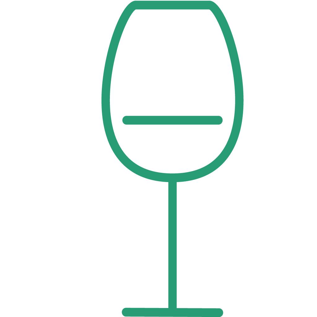 Dal set THE KITCHEN, l'icona bicchiere sommelier VERDE, creata da Wojciech Zasina [www.be.net/wzasina] e usata su www.cucinodite.it da Giorgio Giorgetti, personal chef Varese Como Milano Lombardia
