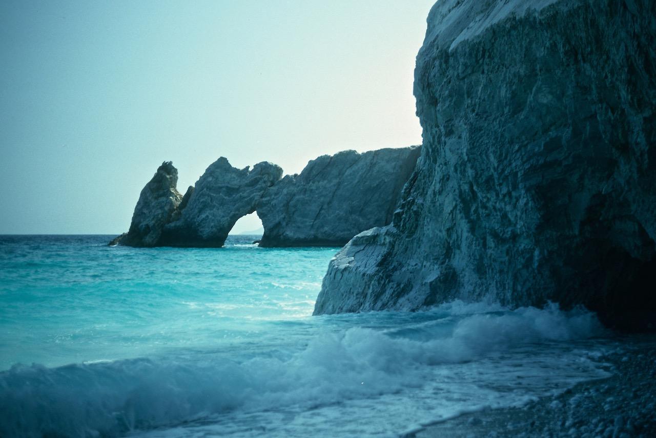 Skiathos, Grecia - la spiaggia di Lalaria